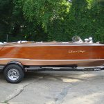 single axle trailer with Chris Craft